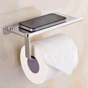 Edelstahl Wandhalterung Badezimmer Toilettenpapierrollenhalten Tissue Shelf Organizer